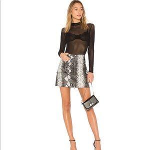 REVOLVE / I.AM.GIA Kelsey snakeskin mini skirt
